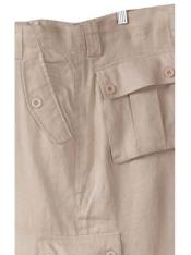 Lino Blanco Carga Pantalones