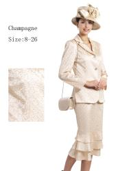 SKU*WO-146 Mujeres champán 3 pieza Vestir conjunto