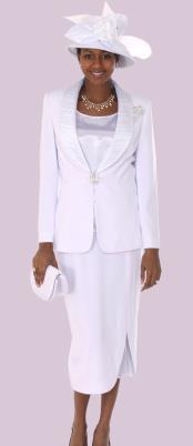 Blanco 3 pieza Vestir