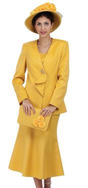 SKU*WO-207 Mujeres 3 Juego de Vestido de Pedazo Amarillo