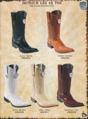 SKU*HA26 3X-Auténtico Avestruz Pierna Vaquero occidental Botas Dif. tamaño