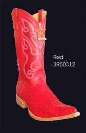 SKU*HA1177 3X-Dedo del pie Impreso Avestruz Vaquero Botas por Los Altos