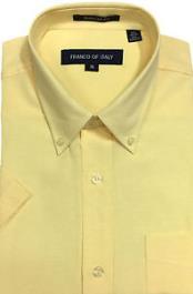 Amarillo Botón Abajo Oxford